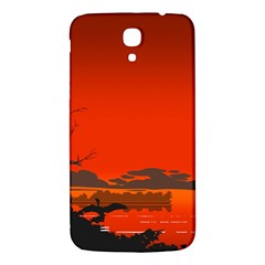 Tropical Birds Orange Sunset Landscape Samsung Galaxy Mega I9200 Hardshell Back Case by WaltCurleeArt