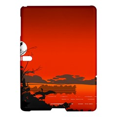 Tropical Birds Orange Sunset Landscape Samsung Galaxy Tab S (10 5 ) Hardshell Case  by WaltCurleeArt
