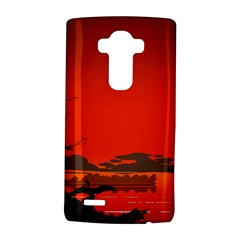 Tropical Birds Orange Sunset Landscape Lg G4 Hardshell Case by WaltCurleeArt