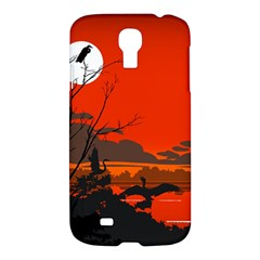 Tropical Birds Orange Sunset Landscape Samsung Galaxy S4 I9500/i9505 Hardshell Case by WaltCurleeArt