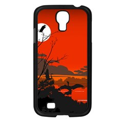 Tropical Birds Orange Sunset Landscape Samsung Galaxy S4 I9500/ I9505 Case (black) by WaltCurleeArt