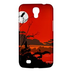 Tropical Birds Orange Sunset Landscape Samsung Galaxy Mega 6 3  I9200 Hardshell Case by WaltCurleeArt