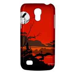 Tropical Birds Orange Sunset Landscape Galaxy S4 Mini by WaltCurleeArt