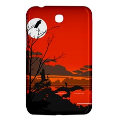 Tropical Birds Orange Sunset Landscape Samsung Galaxy Tab 3 (7 ) P3200 Hardshell Case  by WaltCurleeArt