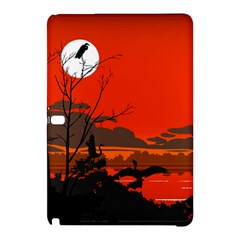 Tropical Birds Orange Sunset Landscape Samsung Galaxy Tab Pro 12 2 Hardshell Case by WaltCurleeArt