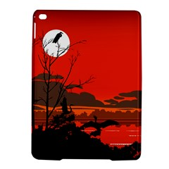 Tropical Birds Orange Sunset Landscape Ipad Air 2 Hardshell Cases by WaltCurleeArt