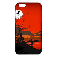 Tropical Birds Orange Sunset Landscape Iphone 6 Plus/6s Plus Tpu Case by WaltCurleeArt