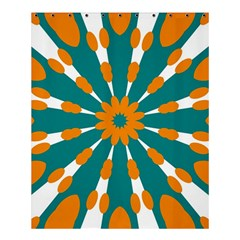 Tangerinerina Teliana Shower Curtain 60  X 72  (medium)  by CircusValleyMall