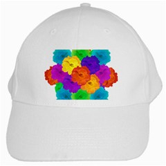 Flowes Collage Ornament White Cap by dflcprints