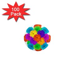 Flowes Collage Ornament 1  Mini Magnets (100 Pack)  by dflcprints