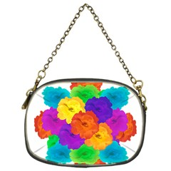 Flowes Collage Ornament Chain Purses (one Side)  by dflcprints
