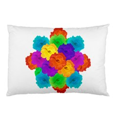Flowes Collage Ornament Pillow Case by dflcprints