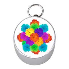 Flowes Collage Ornament Mini Silver Compasses by dflcprints