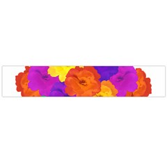 Flowes Collage Ornament Flano Scarf (large)  by dflcprints
