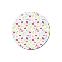 Seamless Colorful Flowers Pattern Magnet 3  (round) by TastefulDesigns