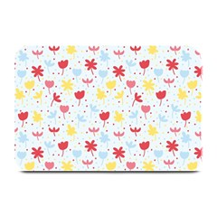 Seamless Colorful Flowers Pattern Plate Mats