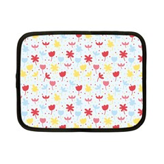 Seamless Colorful Flowers Pattern Netbook Case (small)