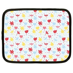 Seamless Colorful Flowers Pattern Netbook Case (large)