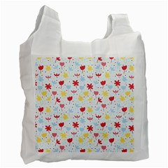 Seamless Colorful Flowers Pattern Recycle Bag (one Side)