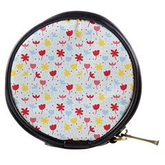 Seamless Colorful Flowers Pattern Mini Makeup Bags