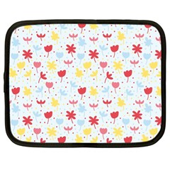 Seamless Colorful Flowers Pattern Netbook Case (xl)