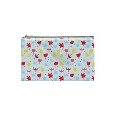 Seamless Colorful Flowers Pattern Cosmetic Bag (small)