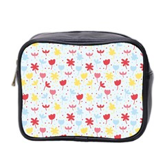 Seamless Colorful Flowers Pattern Mini Toiletries Bag 2 Side