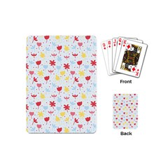 Seamless Colorful Flowers Pattern Playing Cards (mini)  by TastefulDesigns