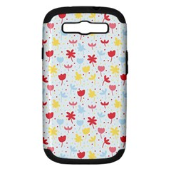 Seamless Colorful Flowers Pattern Samsung Galaxy S Iii Hardshell Case (pc+silicone)