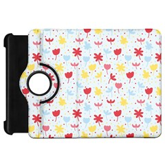 Seamless Colorful Flowers Pattern Kindle Fire HD Flip 360 Case by TastefulDesigns
