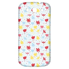 Seamless Colorful Flowers Pattern Samsung Galaxy S3 S Iii Classic Hardshell Back Case