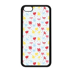 Seamless Colorful Flowers Pattern Apple Iphone 5c Seamless Case (black) by TastefulDesigns
