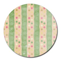 Seamless Colorful Dotted Pattern Round Mousepads
