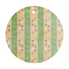 Seamless Colorful Dotted Pattern Ornament (round)