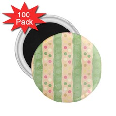 Seamless Colorful Dotted Pattern 2 25  Magnets (100 Pack)