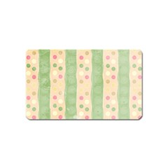 Seamless Colorful Dotted Pattern Magnet (name Card)