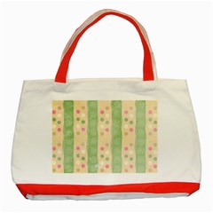 Seamless Colorful Dotted Pattern Classic Tote Bag (red)