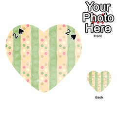 Seamless Colorful Dotted Pattern Playing Cards 54 (heart)