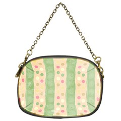 Seamless Colorful Dotted Pattern Chain Purses (one Side)