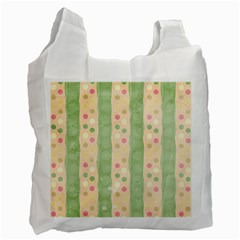 Seamless Colorful Dotted Pattern Recycle Bag (two Side)