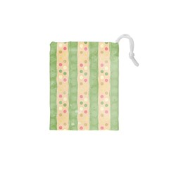 Seamless Colorful Dotted Pattern Drawstring Pouches (xs)