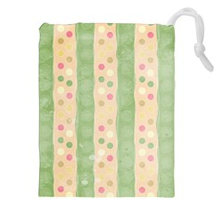 Seamless Colorful Dotted Pattern Drawstring Pouches (xxl)