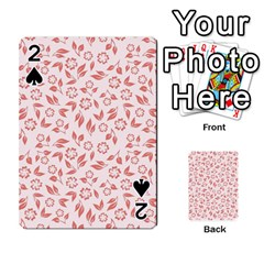 Red Seamless Floral Pattern Playing Cards 54 Designs  by TastefulDesigns