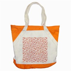 Red Seamless Floral Pattern Accent Tote Bag