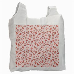 Red Seamless Floral Pattern Recycle Bag (one Side) by TastefulDesigns