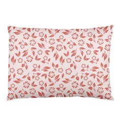 Red Seamless Floral Pattern Pillow Case (two Sides) by TastefulDesigns