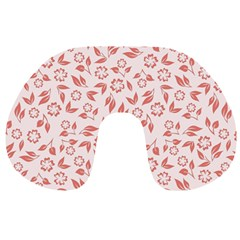 Red Seamless Floral Pattern Travel Neck Pillows by TastefulDesigns