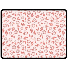 Red Seamless Floral Pattern Double Sided Fleece Blanket (large)  by TastefulDesigns
