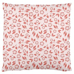 Red Seamless Floral Pattern Large Flano Cushion Case (one Side) by TastefulDesigns