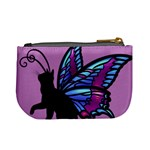 Kitty Wings Coin Change Purse Back